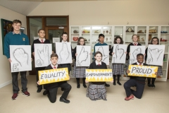 POST PRIMARY STUDENTS WITH EQUALITY POSTERS